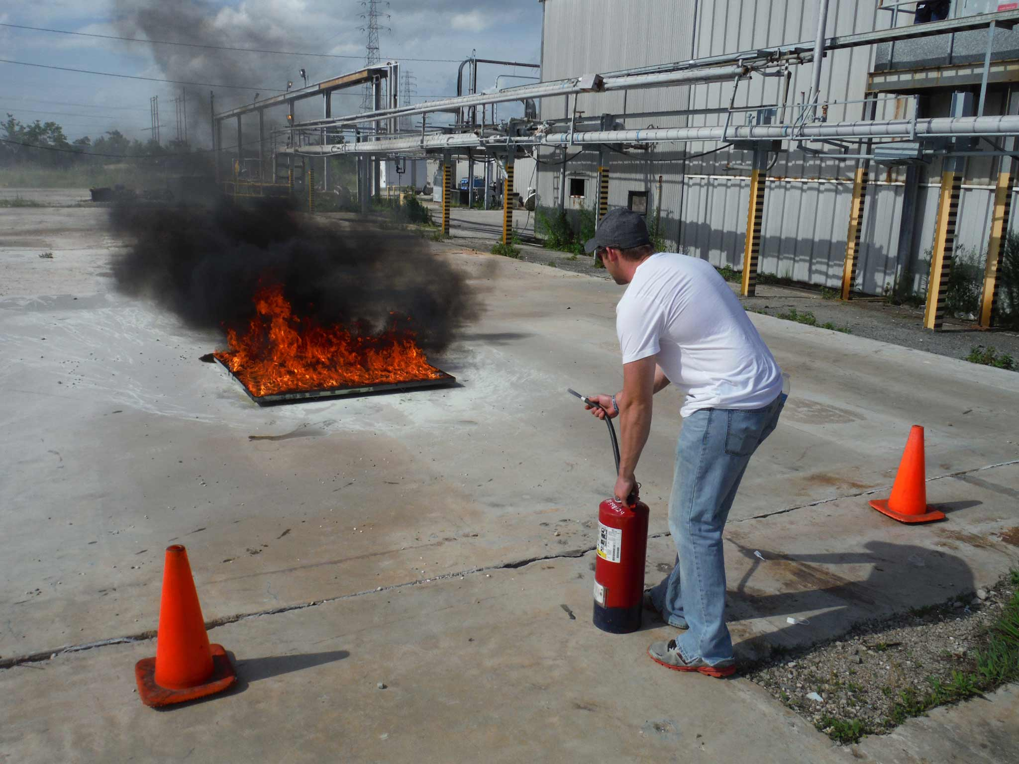 Fire Extinguisher/Fire Guard Course, beaumont, Texas, Foster Safety Course